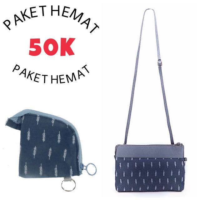 PAKET HEMAT 50rb..! Sling Bag + Dompet Koin