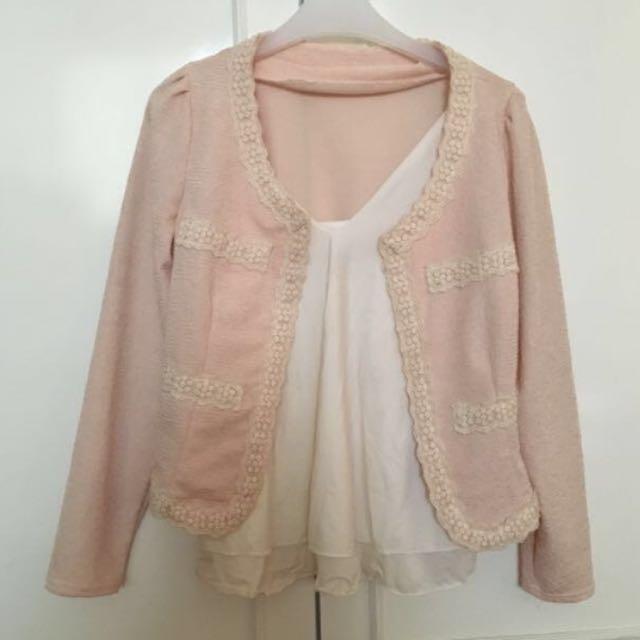 Pastel Pink Elegant Cardigan