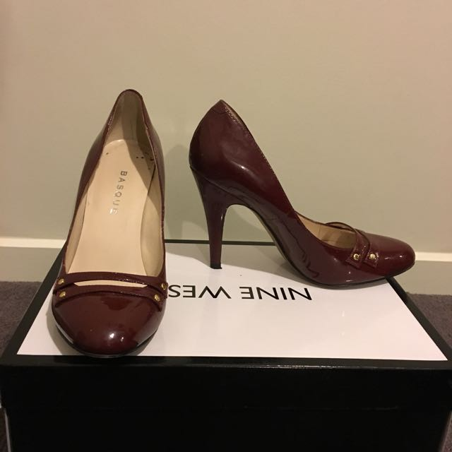 Patent Burgundy Heels