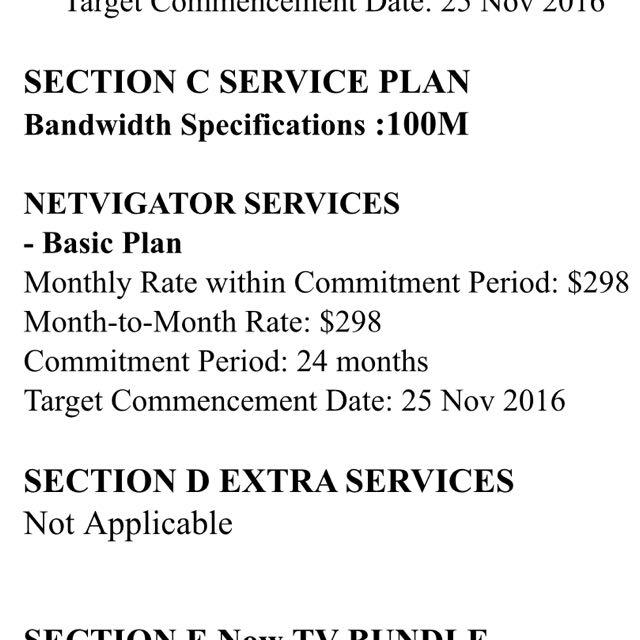 PCCW Netvigator Contract