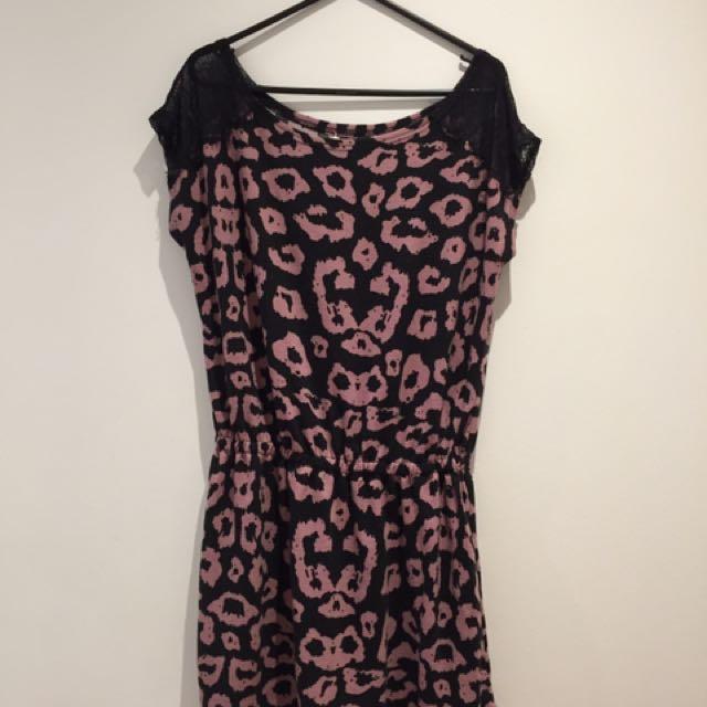 Pink Printed Summer Dress