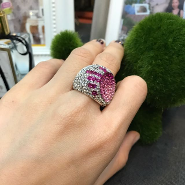 Pink Silver Ring