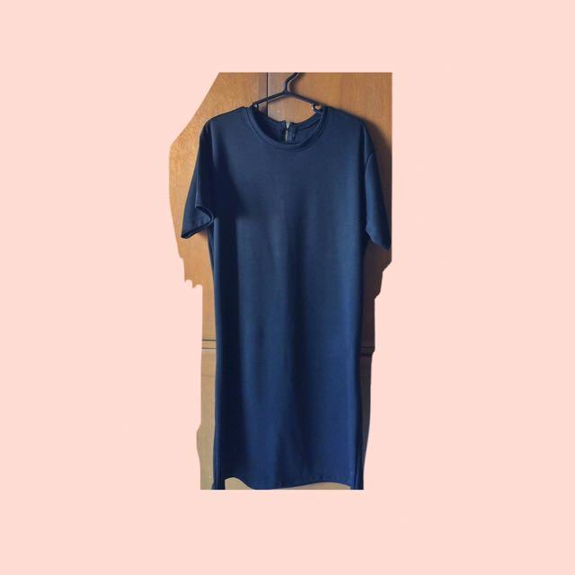 Plain Black T-shirt Dress