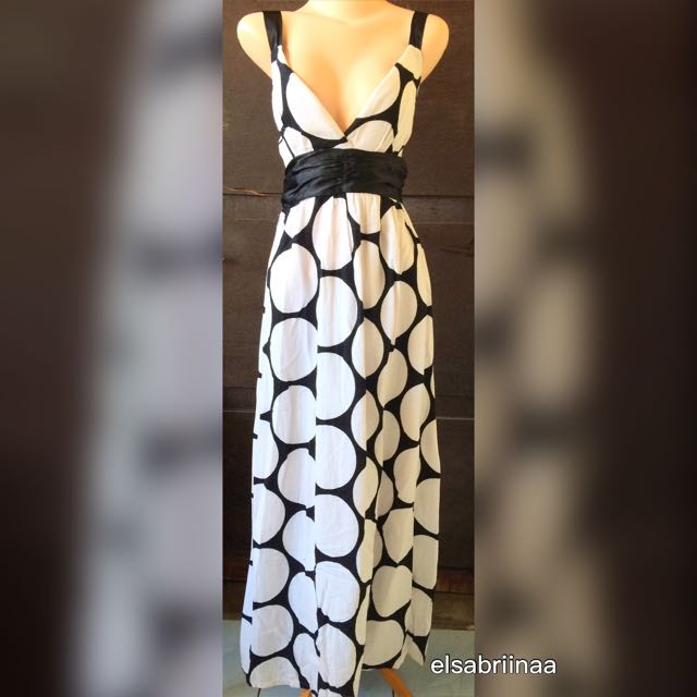 Polka Long Dress