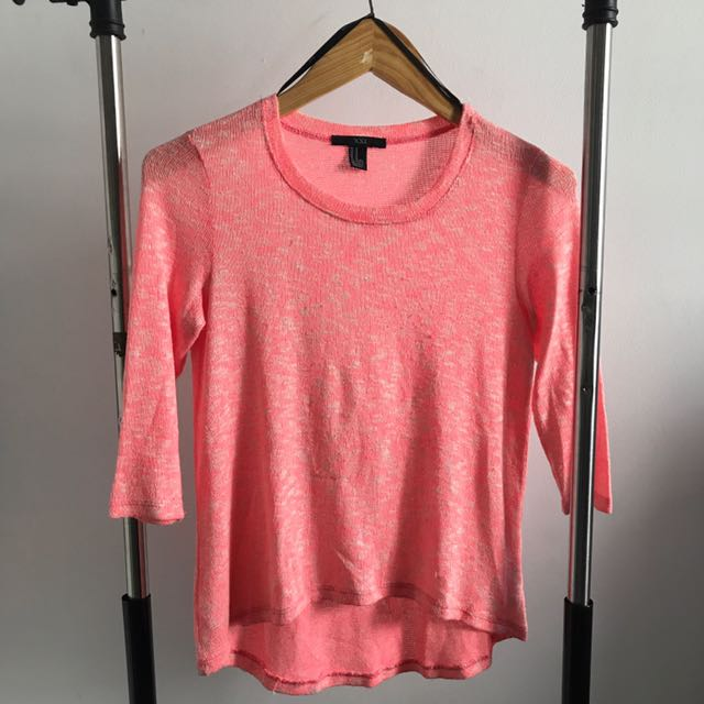 PRELOVED - FOREVER21 PINK NEON SWEATER