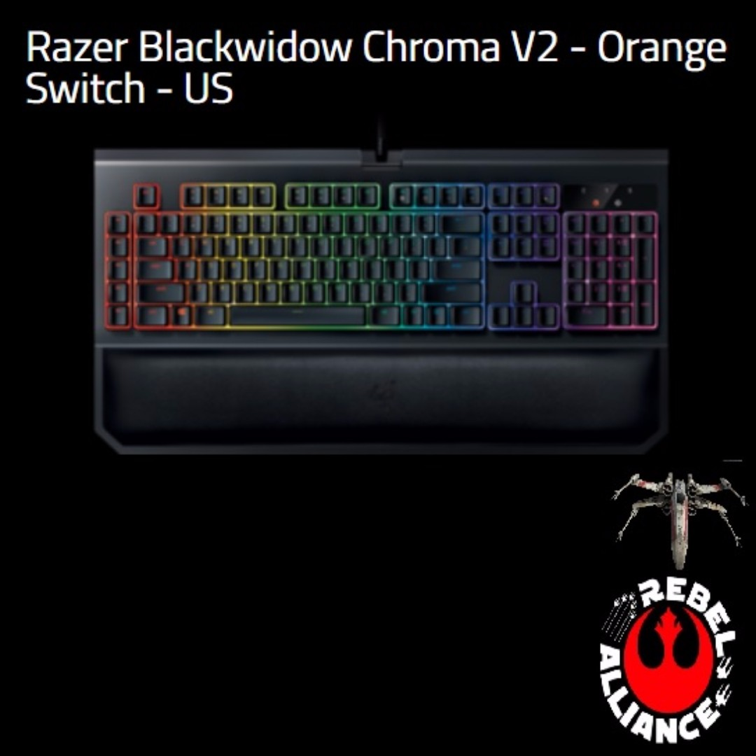 29e26a5ade3 Razer Blackwidow Chroma V2 - Orange Switch - US., Electronics ...
