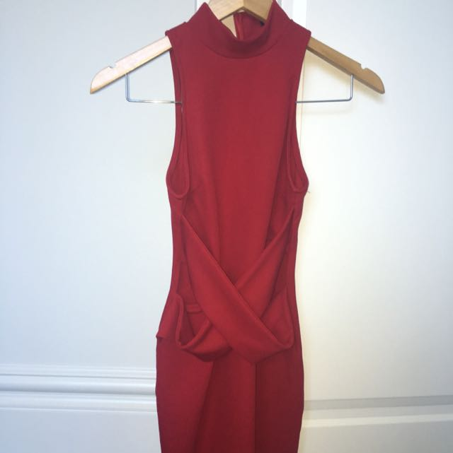 Red Bodycon Dress Size 6