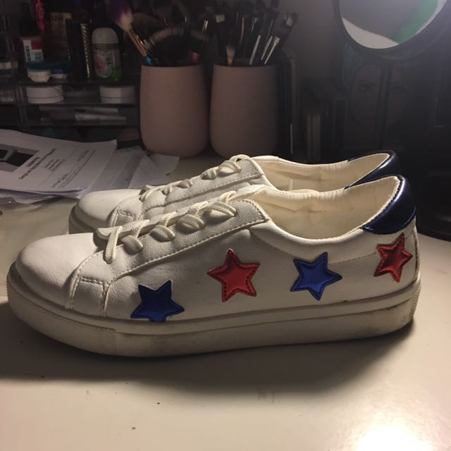 Red, White And Blue Star Topshop Sneakers
