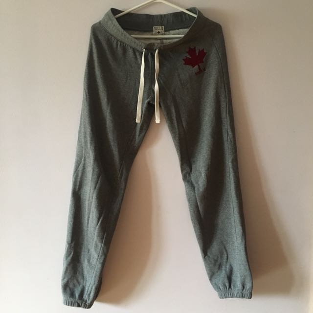 Roots Grey Sweat Pants (XS)