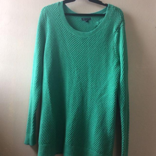 Sea Green Gap Long Sweater