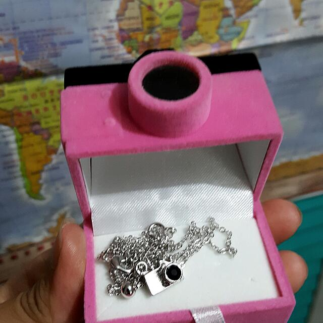 Silver Necklace With Camera Pendant- NEW PRICE!