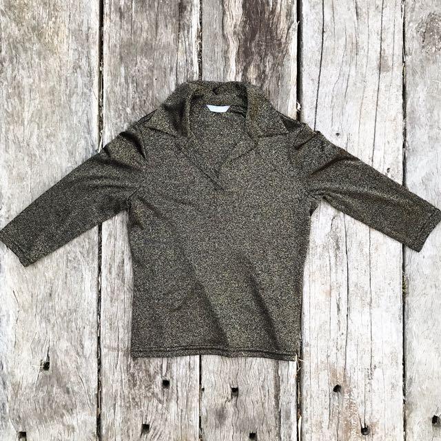 Sparkly Retro-Inspired Shirt