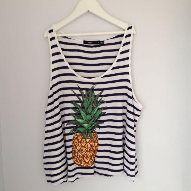 Striped Pineapple Singlet