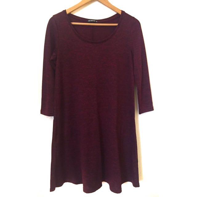 Terranova Burgundy Shift Dress