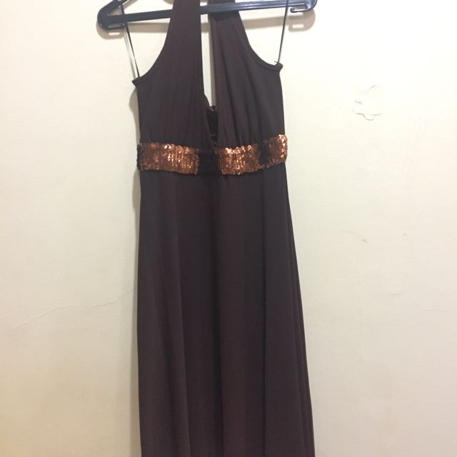 Theory X Halter Dress With Sequins On Waist