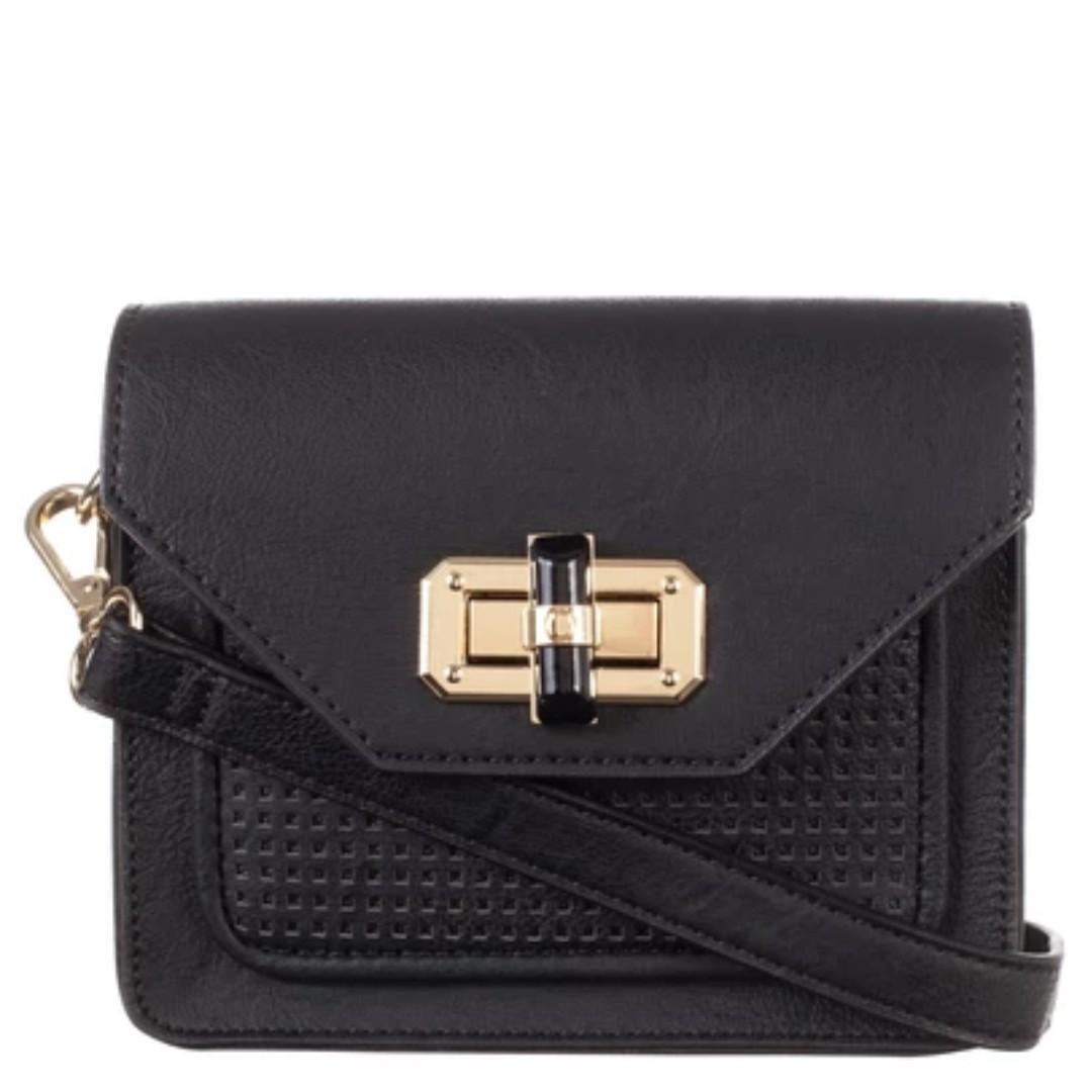 Tony Bianco Black Sloane Sling Bag