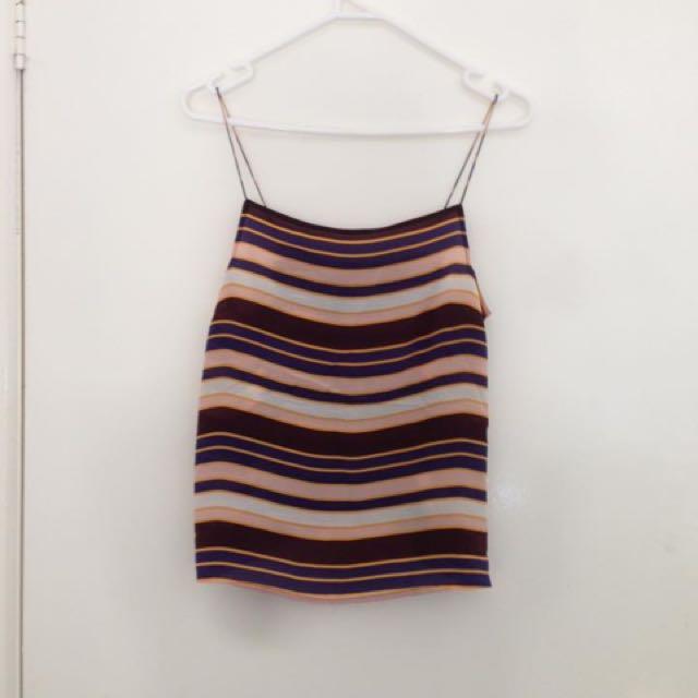 Topshop Silk Stripe Cami