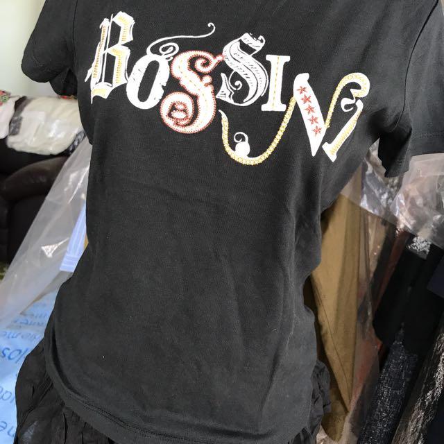 Tshirt Hitam ...BOSSINI