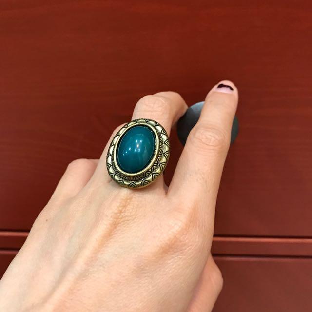 Turquoise Ethnic Ring