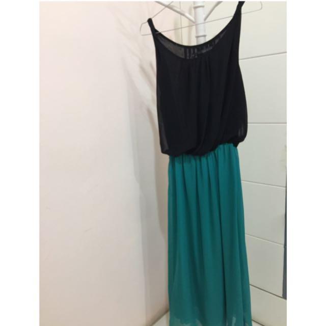 Two Tone Long Dress