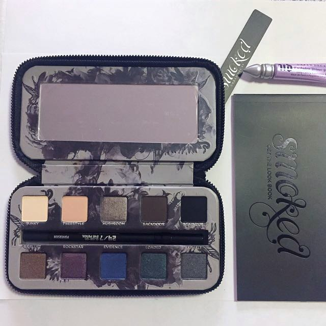 URBAN DECAY Smoked Eyeshadow Palette with Eye Pencil, Primer Potion and Lookbook