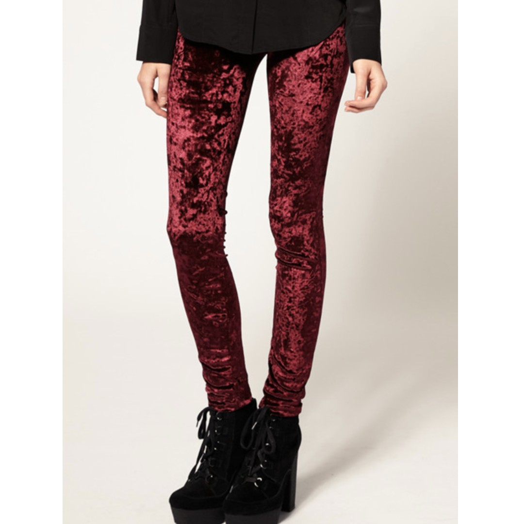 Urban Outfitters BDG Red Velvet Leggings