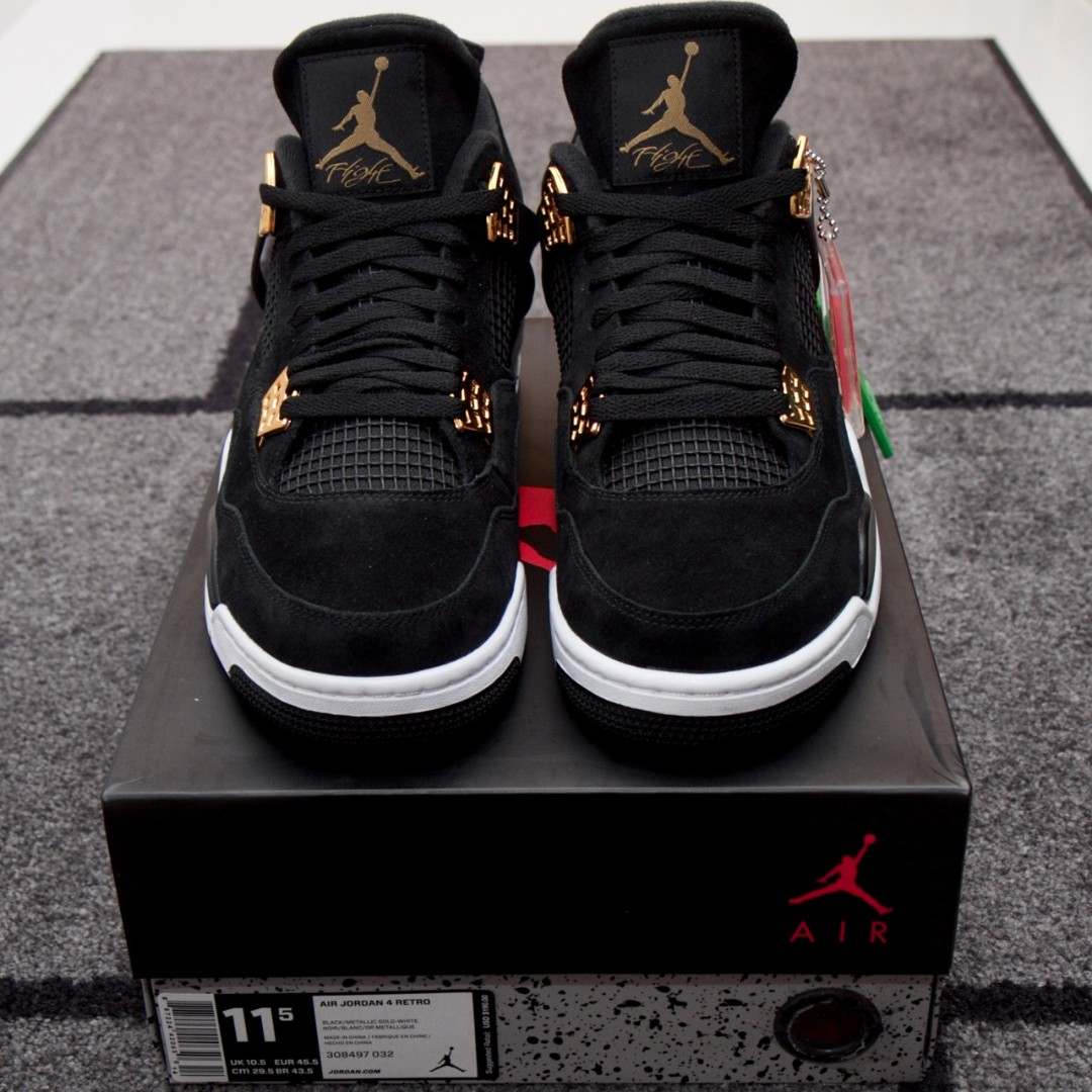 616e3158f0b9 US 11.5 - Jordan 4 - Royalty (Black Gold)