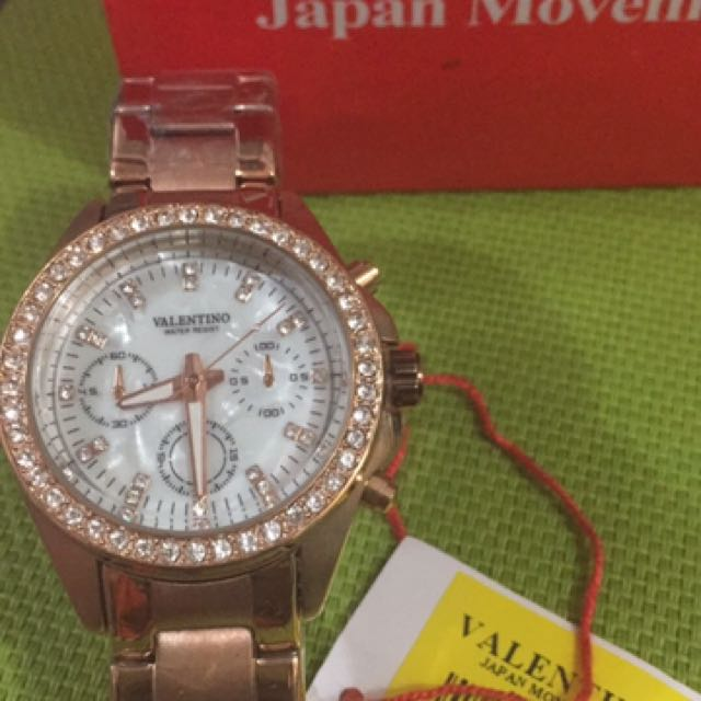 Valentino Watch Rose Gold Authentic
