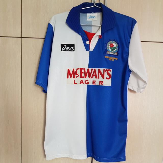 Vintage Blackburn Rovers Premier League Champions 1994 95 Season Jersey Famously Wore By Alan Shearer Sports Sports Apparel On Carousell