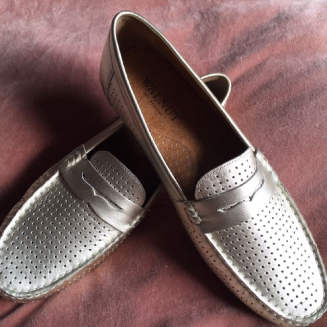 Walnut Melbourne Gold Loafers
