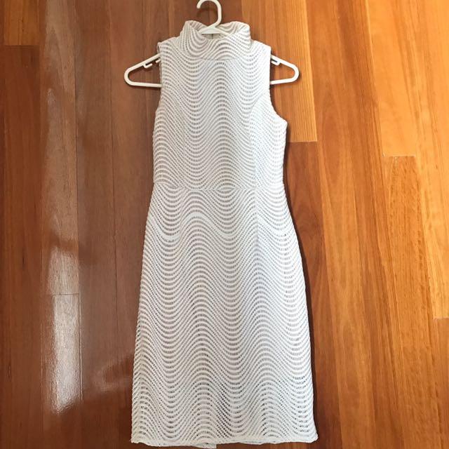 White [midi Length] Dress