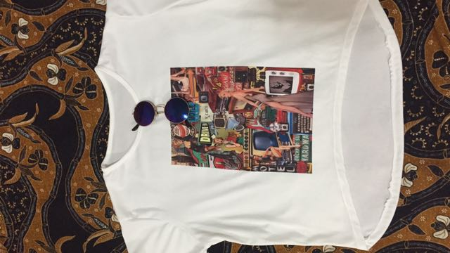 White Tee with Vintage Design