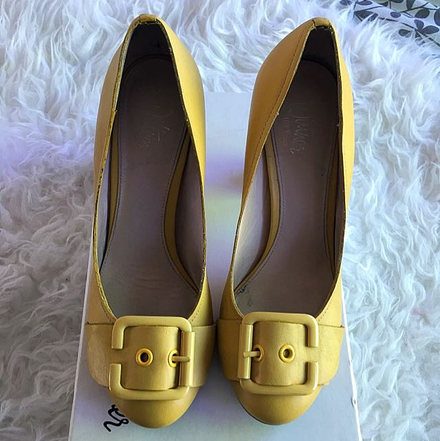Wittner Lemon Block Heels *size 36