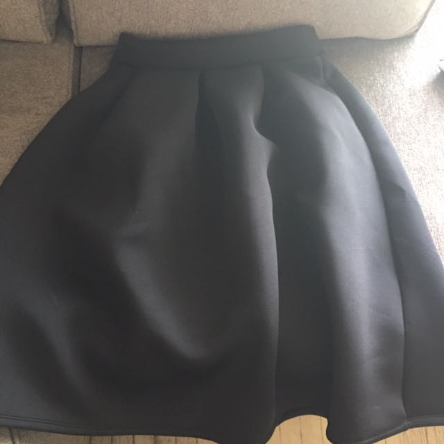 Women's Knee Length Scuba Skirt