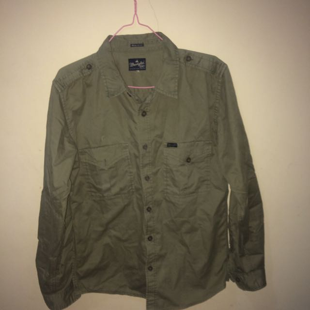 Wrangler Green Army Shirt
