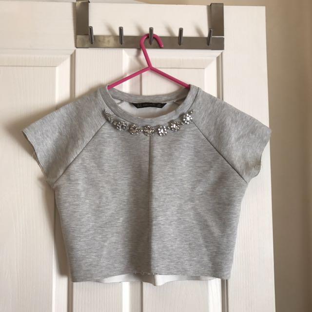 Zara Grey Crop