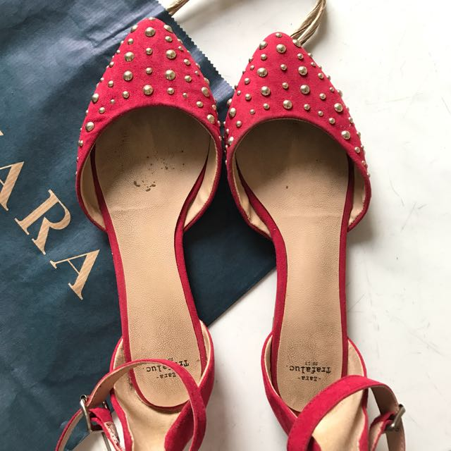 ZARA Pointed Red shoes