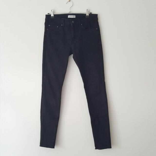 Zara Premium Denim Black Skinny Jeans