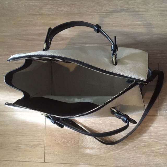 Zara White/Black Handbag