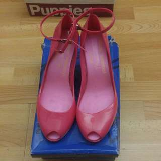 Melissa Westwood Pink High Wedges Sz 38