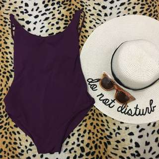 Plum Low Back One-Piece Swimsuit