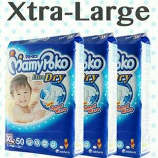 BNIP Mamypoko Jumbo Extra Dry Tape Diapers