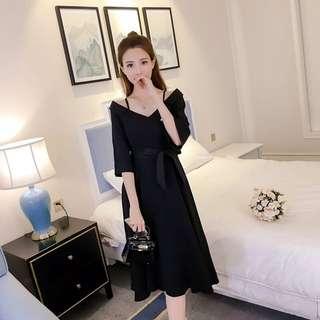 韓版顯瘦收腰連衣裙