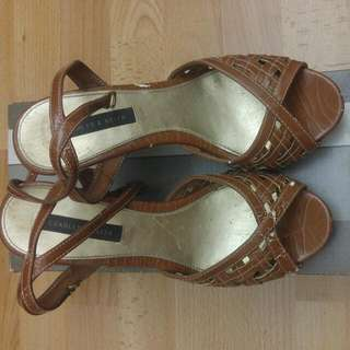Original Charles And Keith High Wedges Sz 38