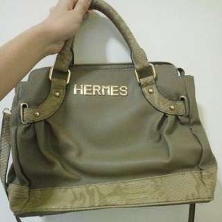 Tas HERMES croco leather