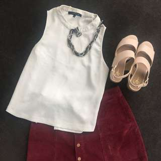 French Connection White Top #EOFYSALE