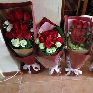 鮮花花束大減價!!!(红玫系列) 多款红玫鮮花花束 均一價以供選擇