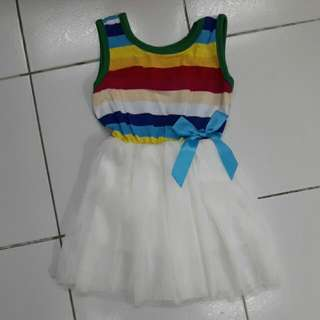 Rainbow Tutu Style Dress (New)