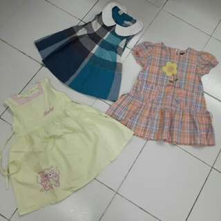 3 Dresses for 3 Yrs Old