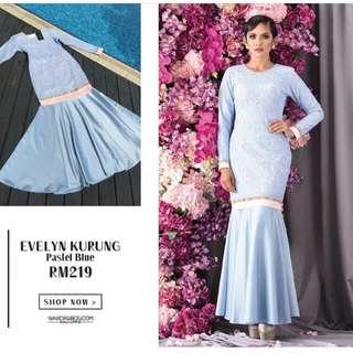 Evelyn Pastel Blue Size M by Wardrobe2ukl